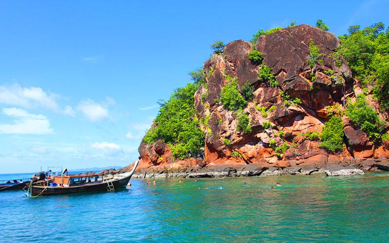 เกาะแดง-สถานที่ท่องเที่ยวกระบี่