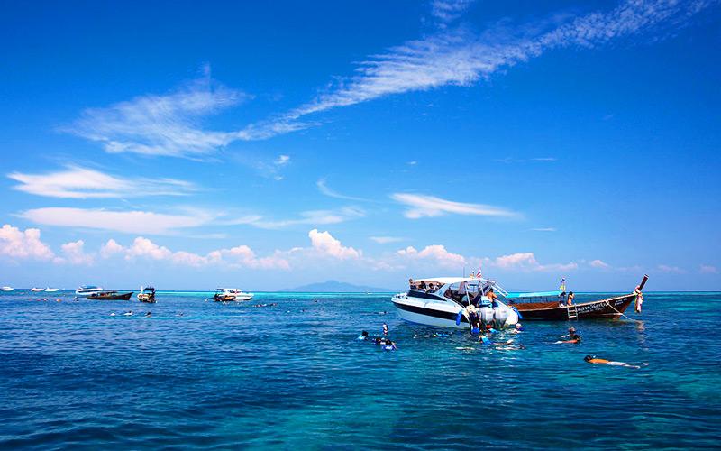 เกาะหินกลาง-ทัวร์เกาะพีพี-กระบี่