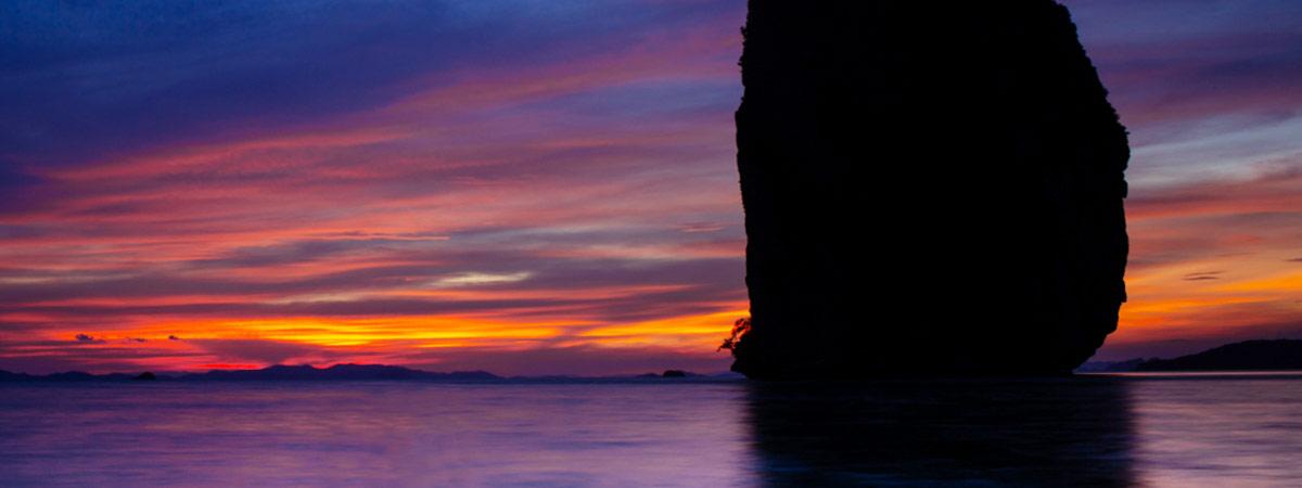 ชมตะวันตกทะเลที่ เกาะปอดะ กระบี่