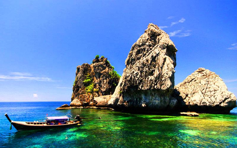 เที่ยว 7 เกาะ - เกาะสี่ กระบี่
