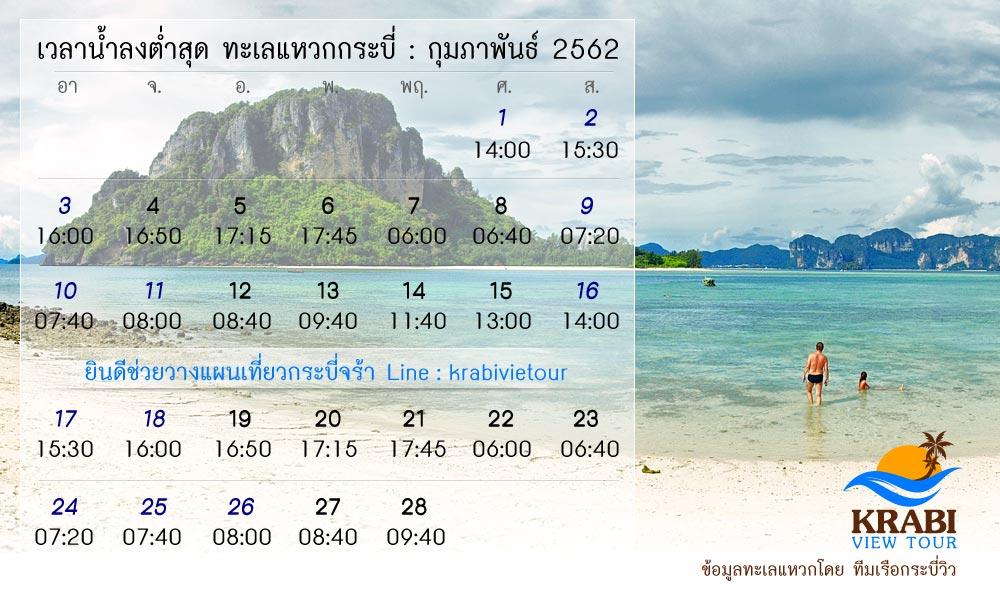 ข้อมูล ทะเลแหวก เดือน กุมภาพันธ์ 2562