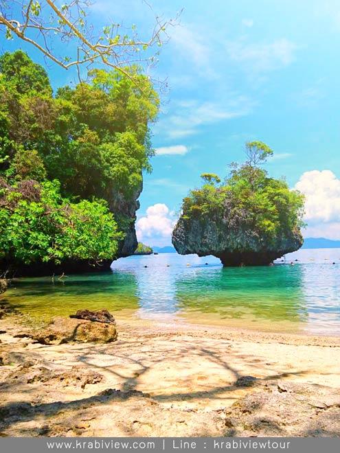 เที่ยวเกาะห้อง ได้ไปที่ เกาะผักเบี้ยด้วย