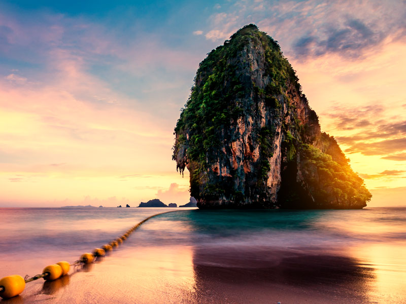 ทัวร์ 7 เกาะ กระบี่ Sunset ที่ถ้ำพระนาง