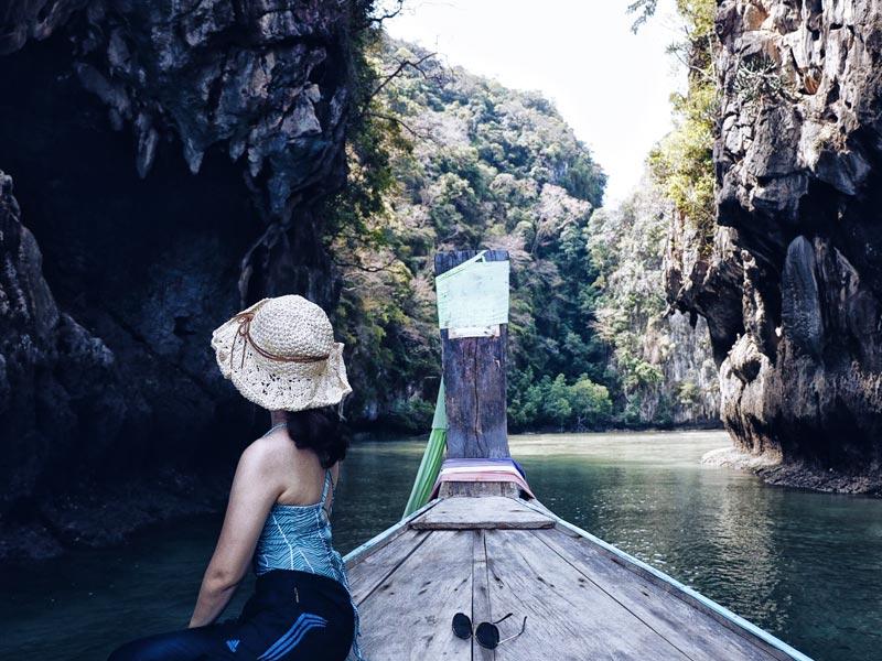เที่ยวกระบี่ 1 วัน เต็มๆ ณ เกาะห้อง ด้วยเรือหางยาว