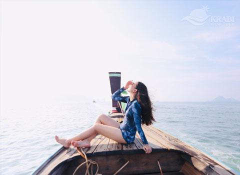 เหมาเรือหางยาว กระบี่ 2563 ทัวร์ 4 เกาะ ทะเลแหวก