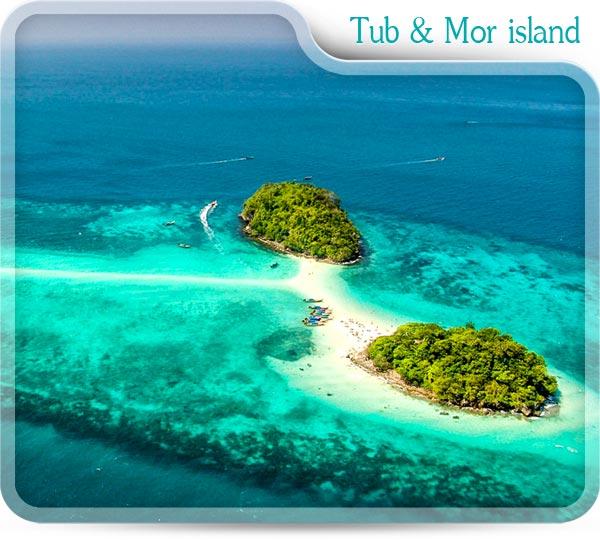 Tub island and mor island
