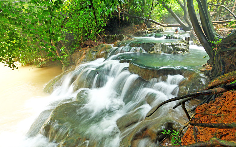 Hot spring waterfall  Krabi View Tour