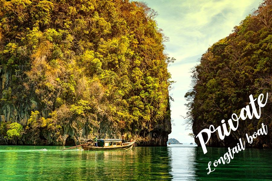 private long tail boat krabi to Hong island