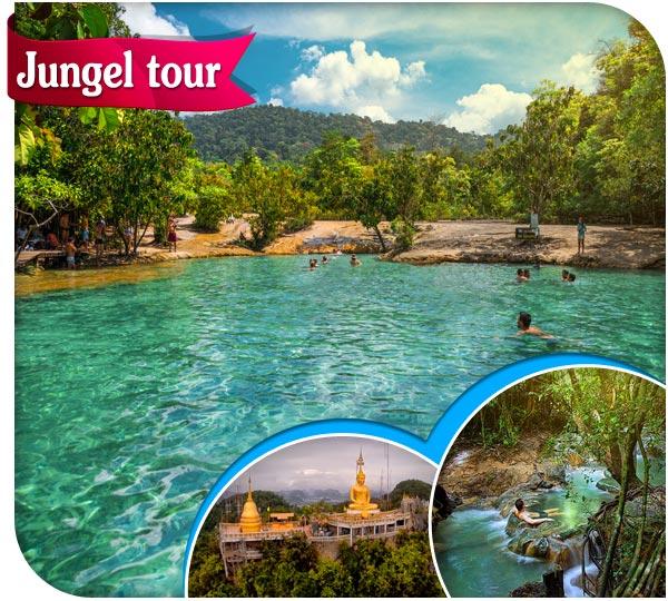 Emerald pool krabi and hot spring waterfall