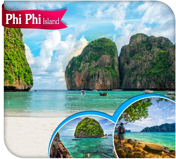 Phi phi island tour Krabi by speed boat